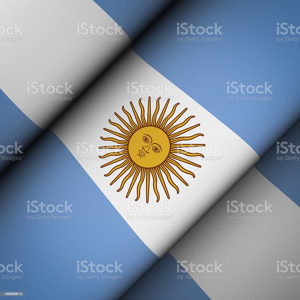 Iconic Flag of Argentina stock photo