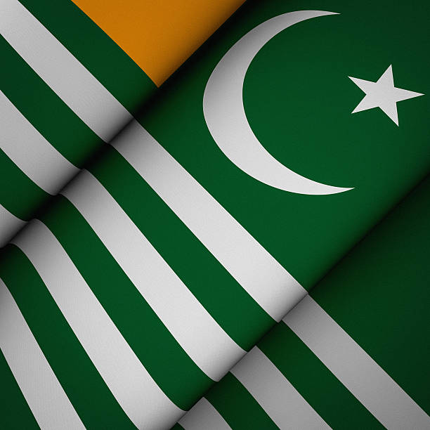 Iconic Flag of Azad Kashmir stock photo