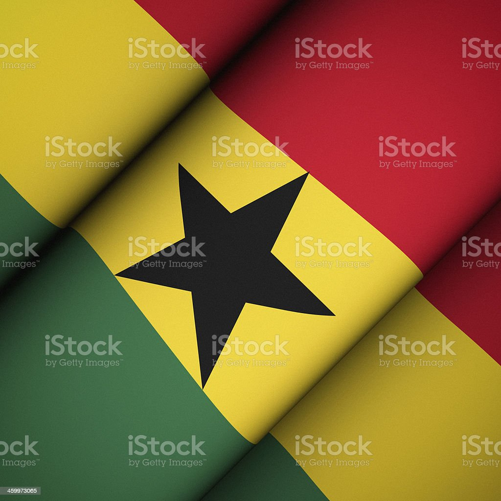 Iconic Flag of Ghana stock photo