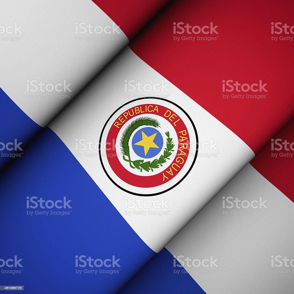 Icono bandera de Paraguay - foto de stock