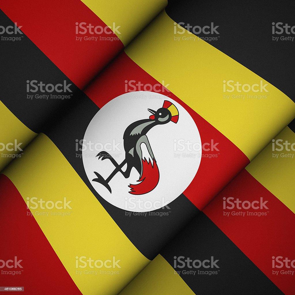 Iconic Flag of Uganda stock photo