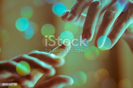 istock Iconic Hand of God Concept 805043736