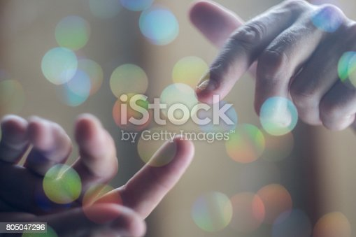 istock Iconic Hand of God Concept 805047296