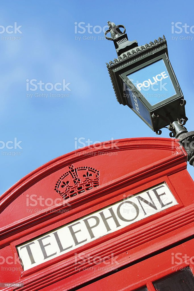 Iconic London Street Features royalty-free stock photo