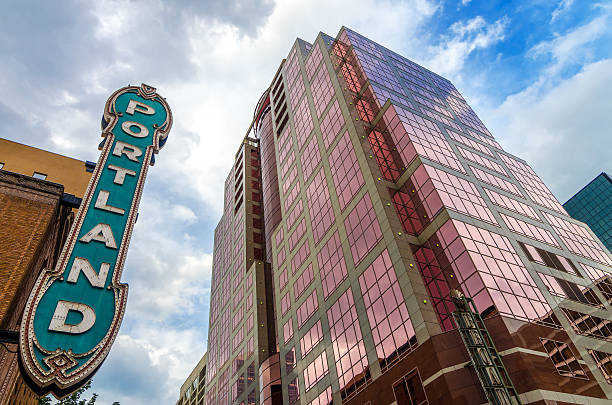 Iconic Portland Sign stock photo