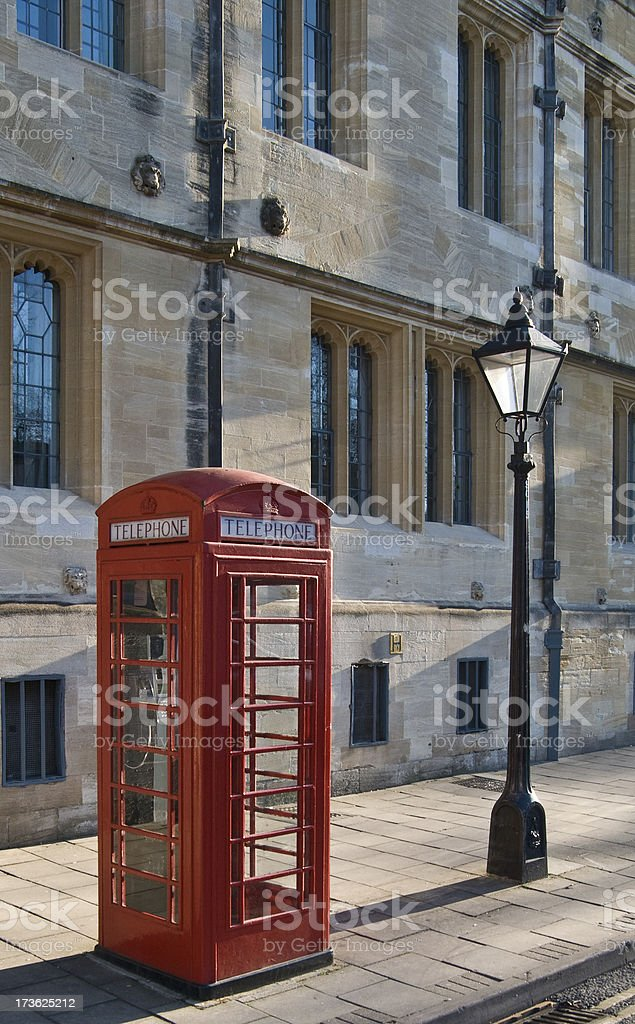 Iconic Red Phone Box royalty-free stock photo
