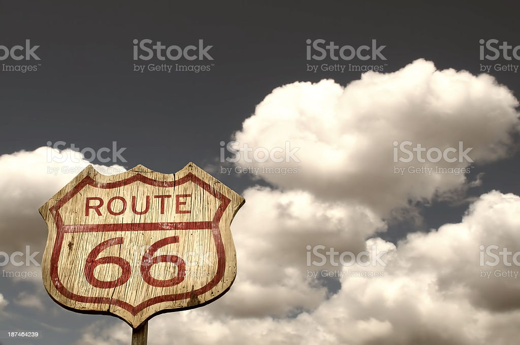 Iconic Route 66 sign stock photo