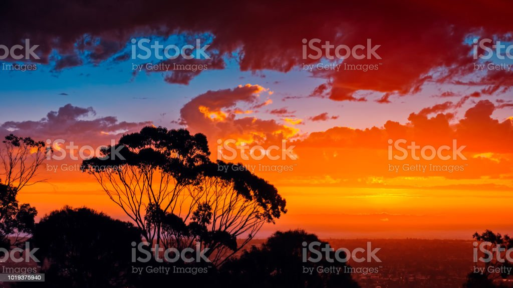 Iconic South Australian sunset stock photo