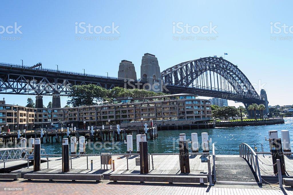 Iconic Sydney Harbour bridge stock photo