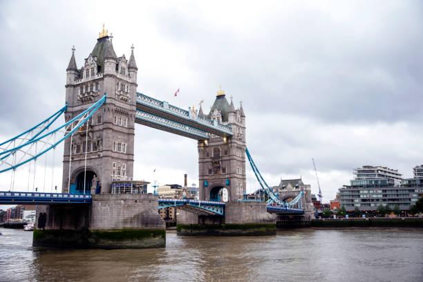 Iconic Tower Bridge, London UK - Cities under COVID-19 Series stock photo