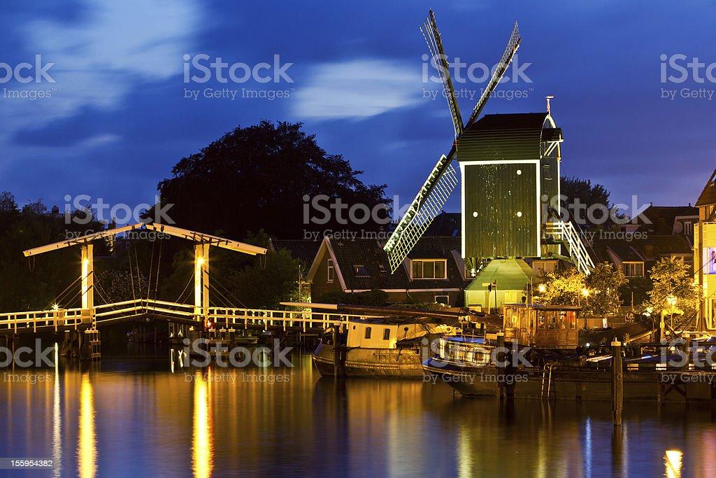 象徴的な眺めを、オランダライデン ロイヤリティフリーストックフォト