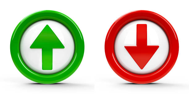 Icons arrows up & down #2 stock photo
