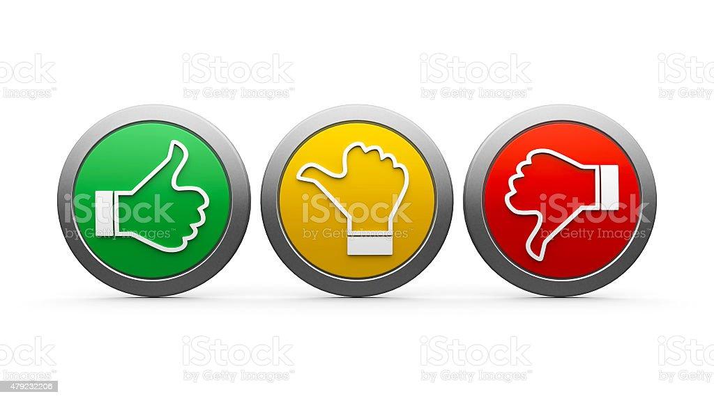 Icons customer satisfaction stock photo