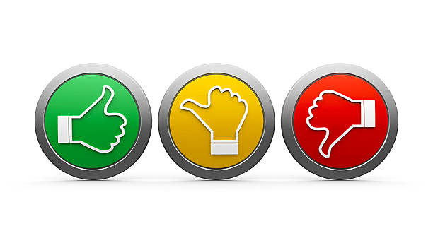 Icons customer satisfaction Positive, neutral and negative icons isolated on white background - represents customer satisfaction and feedback, three-dimensional rendering yes single word stock pictures, royalty-free photos & images