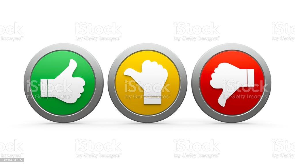 Icons customer satisfaction #3 royalty-free stock photo