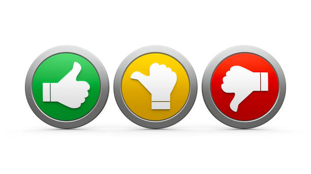 icons customer satisfaction #3 - thumb stock photos and pictures