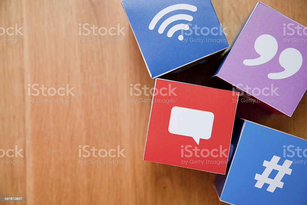 Icons for Online Messaging Concept stock photo