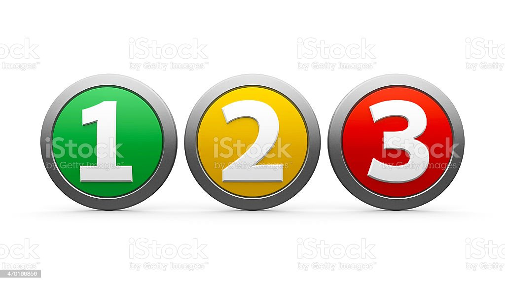Icons numbers 1 2 3 stock photo