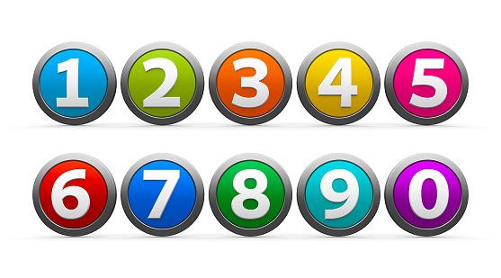 istock Icons numbers set 478310698