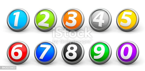 istock Icons numbers set #4 842023922