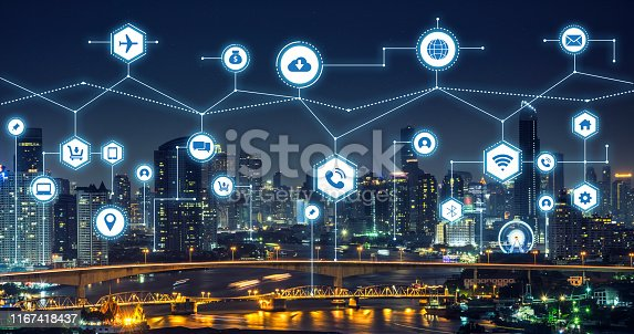 1155541483istockphoto icons of internet communication of technology for smart city conceptual background 1167418437