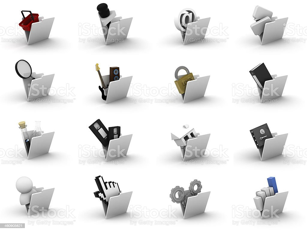 Icons stock photo