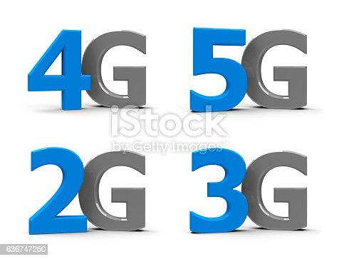 istock 2G 3G 4G 5G icons 636747250