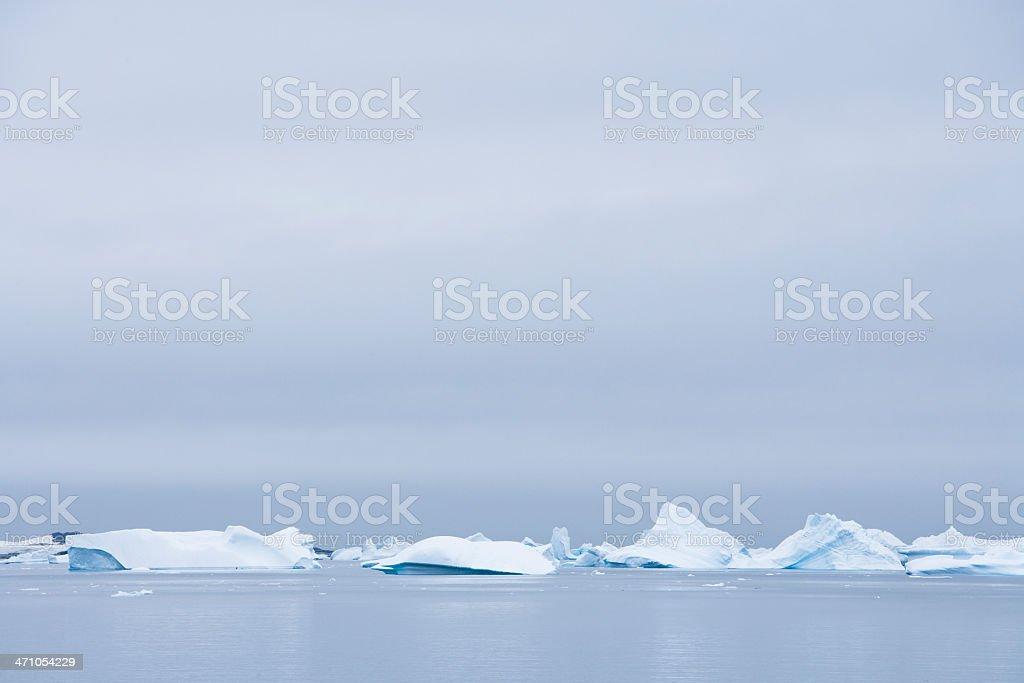 Icy Antarctica Landscape royalty-free stock photo