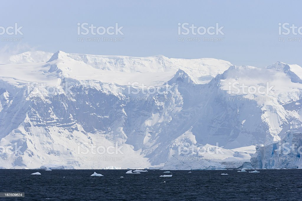 Icy Blue Glacial Mountains stock photo