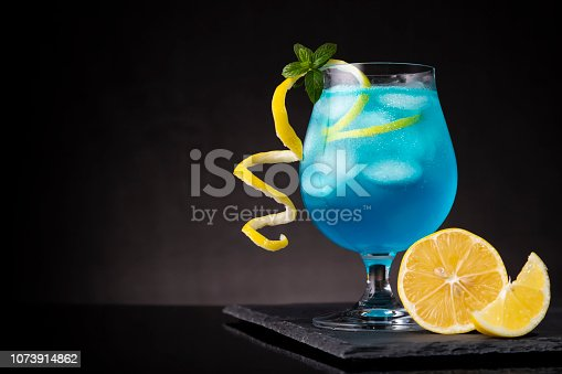 istock Icy blue lagoon cocktail 1073914862