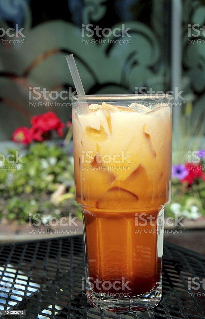 Icy Cold Thai Iced Tea stock photo