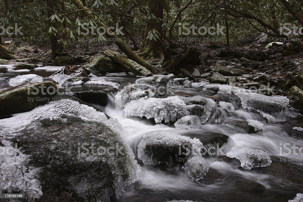 Icy Creek 2 royalty-free stock photo