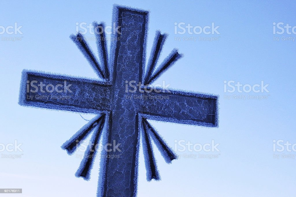 Icy Cross stock photo