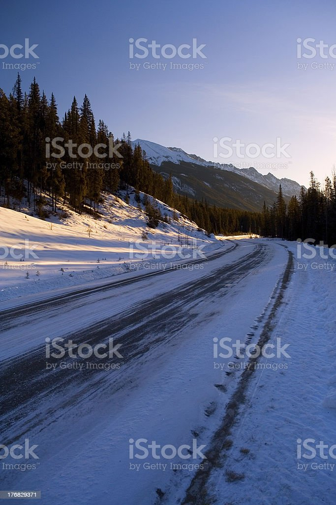 Icy Curve royalty-free stock photo