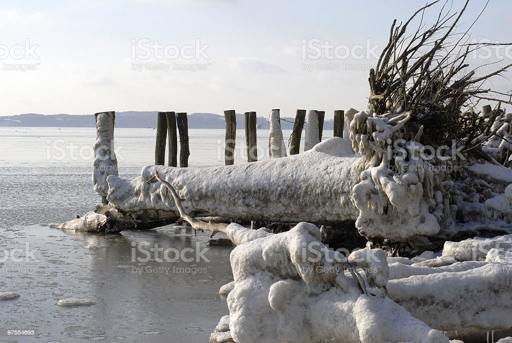 Icy detail royalty-free stock photo