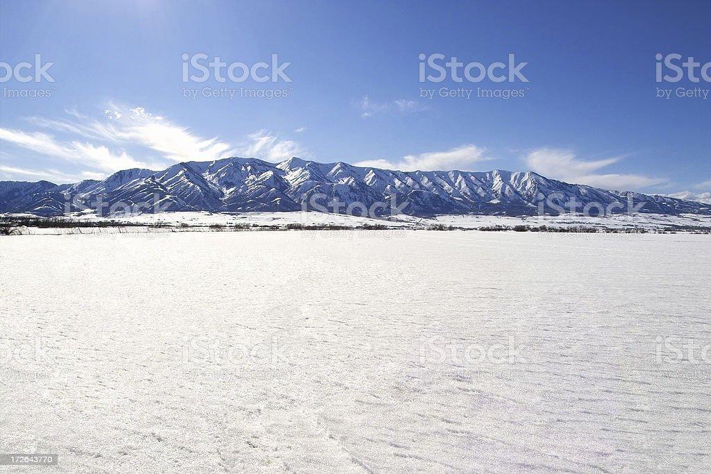Icy Flats stock photo