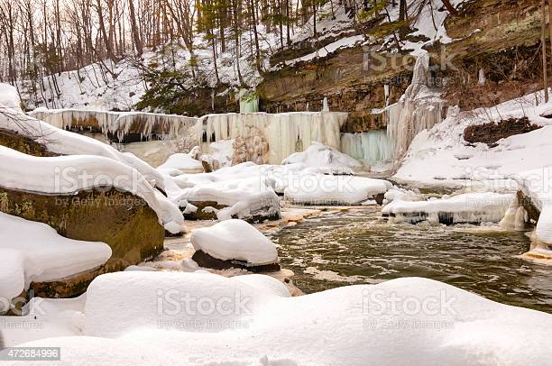 Photo of Icy Great Falls of Bedford
