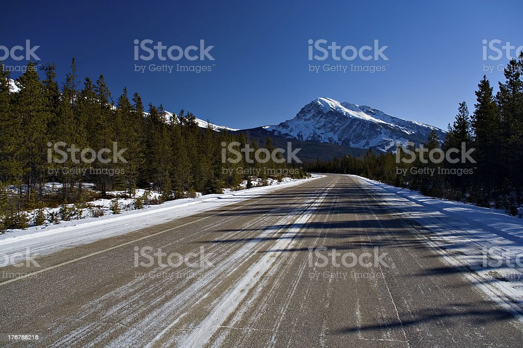 Icy Highway royalty-free stock photo
