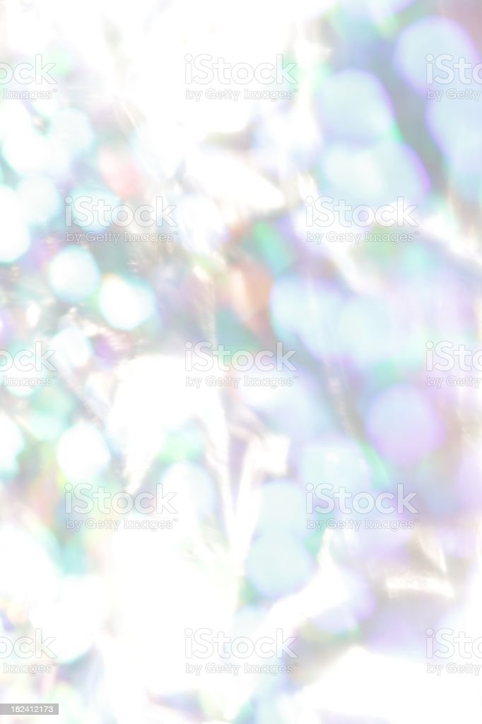 Icy Iridescent Lights stock photo