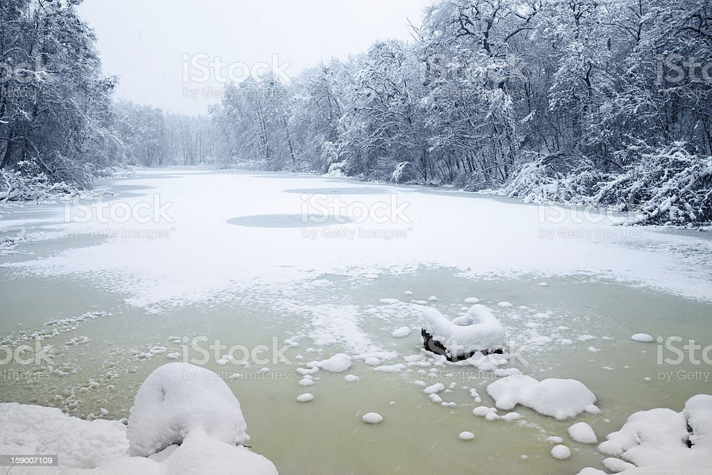 icy lake royalty-free stock photo
