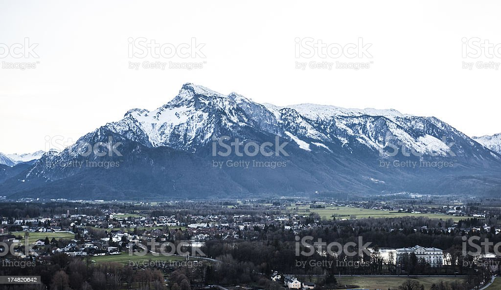 Icy mountain view royalty-free stock photo