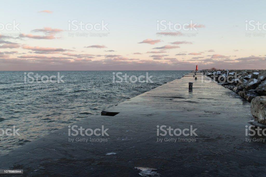 Icy Pier stock photo