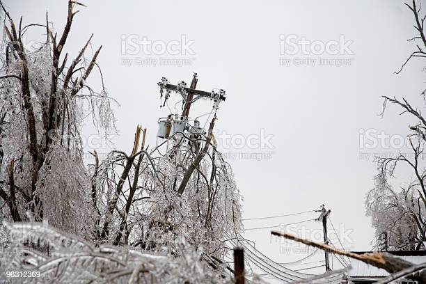 Photo of Icy Power Pole Falling