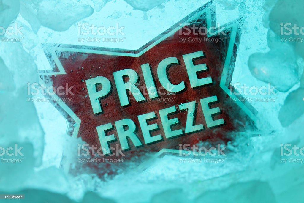 Icy Price Freeze stock photo