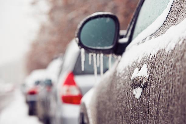 icy rain - cold street bildbanksfoton och bilder