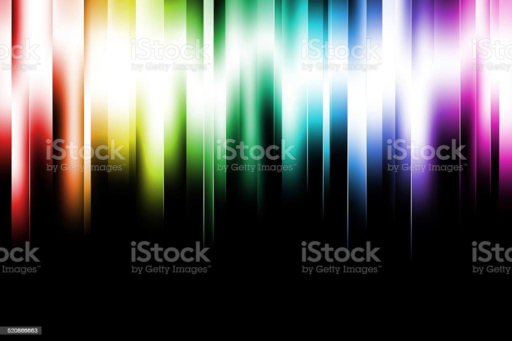 Icy Rainbow Lights stock photo