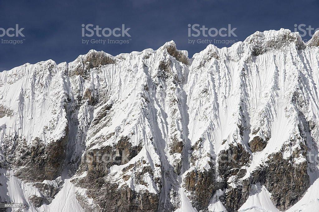 Icy ridge royalty-free stock photo