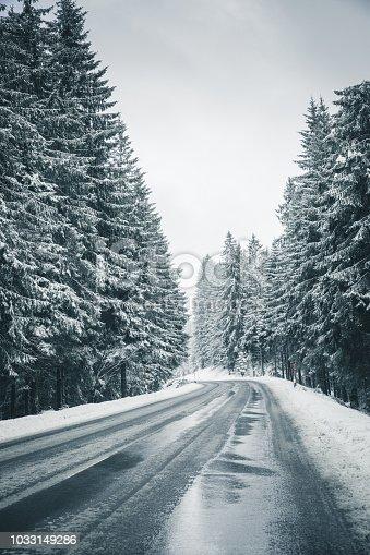 1066508460 istock photo icy road 1033149286