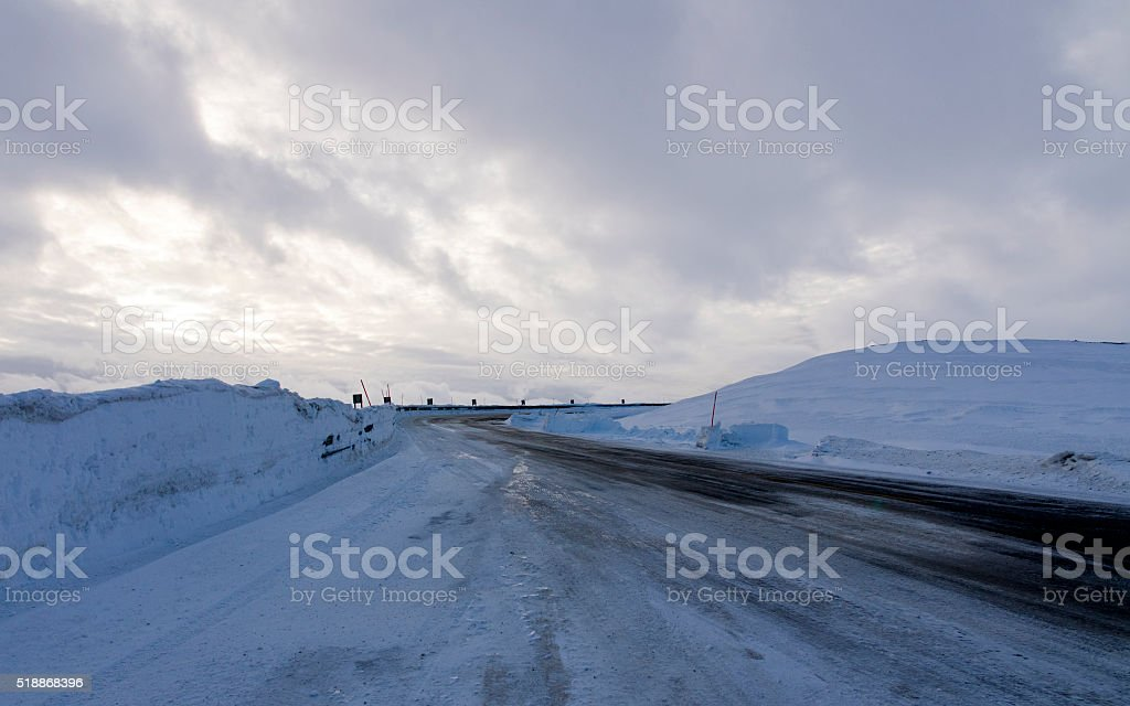 Icy Road stok fotoğrafı