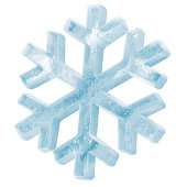 Icy Snowflake Icon isolated on white background